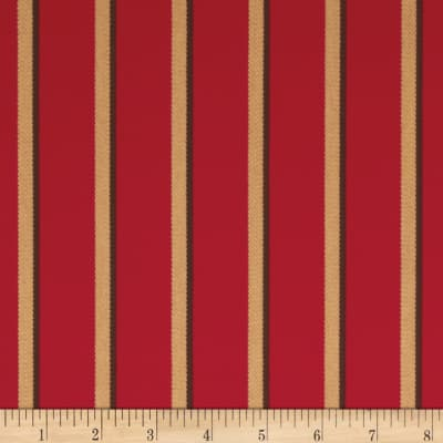 Sunbrella Outdoor Harwood Stripe Crimson