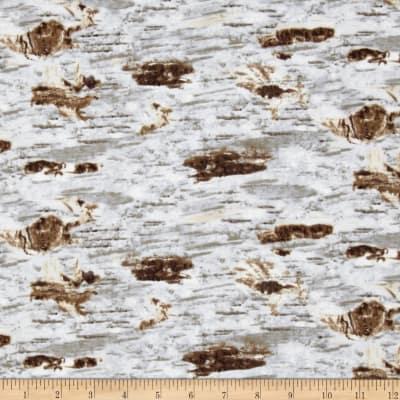 On The Wild Side Flannel Birch Texture Natural