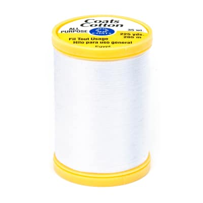 Coats & Clark General Purpose Cotton 225 YD White