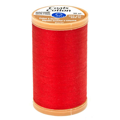 Coats & Clark Machine Quilting Cotton Thread 350 yd. Red