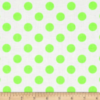 Riley Blake Dots Neon Green