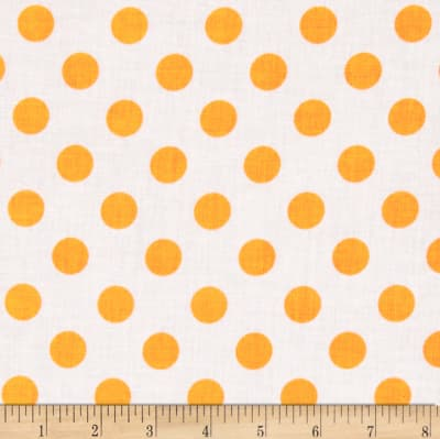 Riley Blake Dots Neon Orange