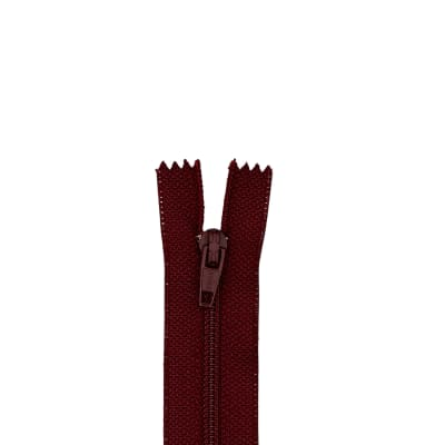 "Coats & Clark Polyester All Purpose Zipper 18"" Maroon"