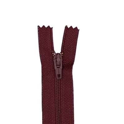 "Coats & Clark Poly All Purpose Zipper 20"" Maroon"