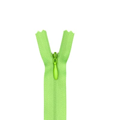 """Poly Invisible Zipper 20-22"""" Lime"""