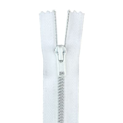 "Metal All Purpose Zipper 9"" White"