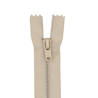 "Metal All Purpose Zipper 14"" Ecru"