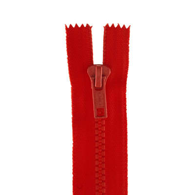 "Coats & Clark Closed Bottom Molded Zipper 9"" Atom Red"