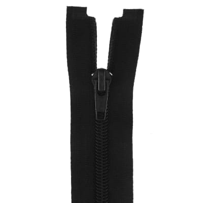 "Coats & Clark Coil Separating Zipper 22"" Black"