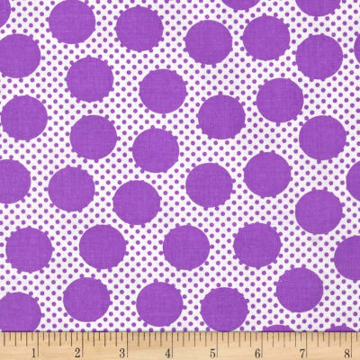 Michael Miller Cute Zoo Adorable Dots Purple