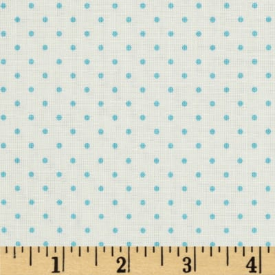 Riley Blake La Creme Basics Swiss Dots Aqua
