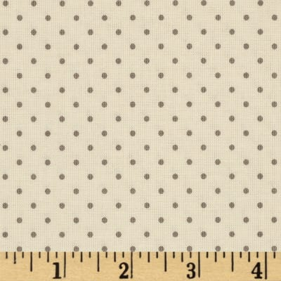 Riley Blake La Creme Basics Swiss Dots Gray