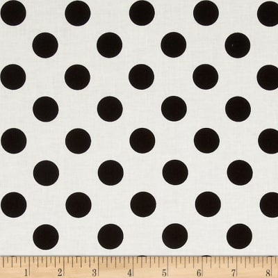 Riley Blake Le Creme Basics Medium Dots Cream/BLeck