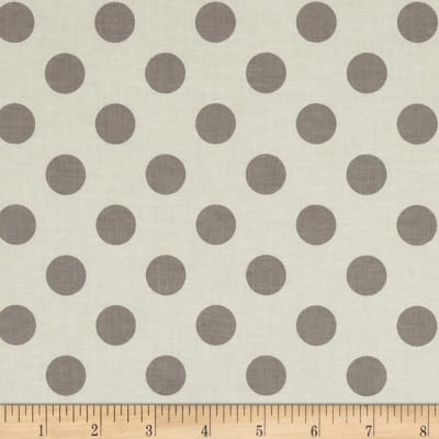 Riley Blake Le Creme Basics Medium Dots Cream/Grey