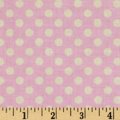 Riley Blake Le Creme Basics Small Dots Baby Pink/Cream