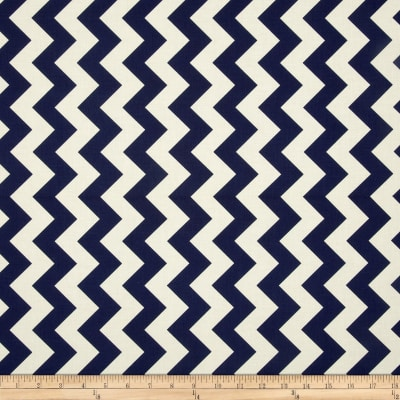 Riley Blake Le Creme Basics Chevron Navy/Cream