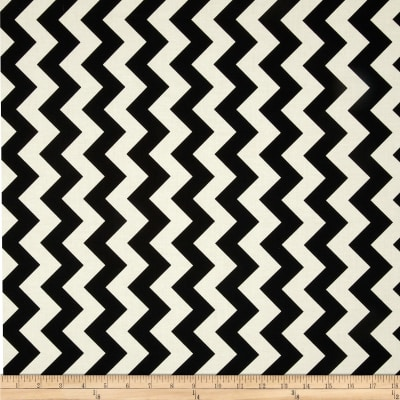 Riley Blake Le Creme Basics Chevron Black/Cream