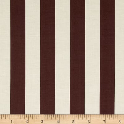 "Riley Blake Le Creme Basics Medium 1"" Stripe Brown/Cream"