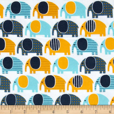 Urban Zoologie Flannel Elephants Adventure