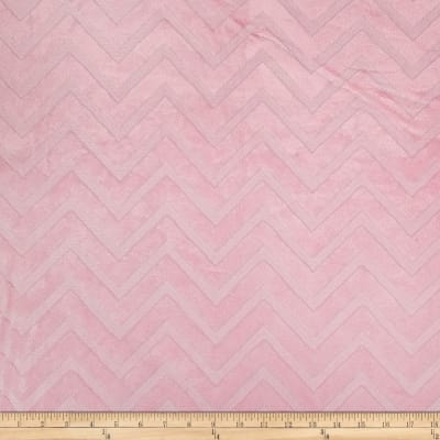 Shannon Minky Cuddle Embossed Chevron Blush