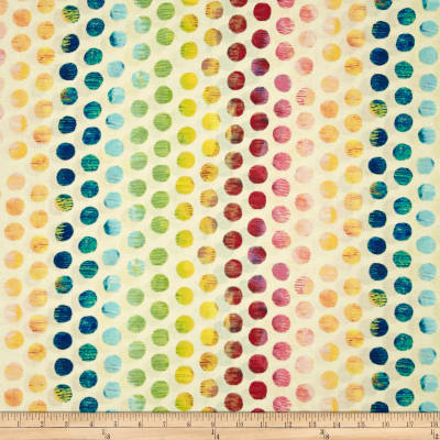 Michael Miller Edges Ombre Circle Ivory/Multi