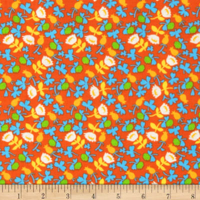 Heather Ross Briar Rose Calico Orange/White