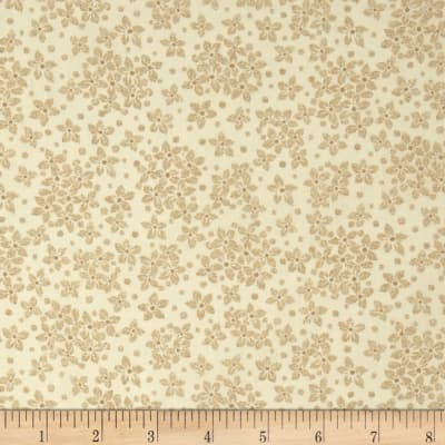 Whisper Print Small Flower Tonal Wheat