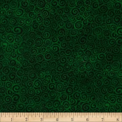 Laural Burch Swirls Dark Green