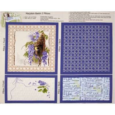 Nature's Palette Pillow Panel Purple