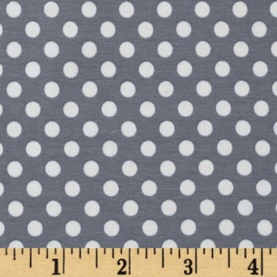 Knit Small Dots Gray