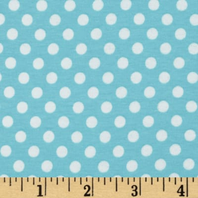 Riley Blake Jersey Knit Small Dots Aqua