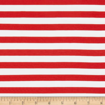Knit Half Inch Stripe Red