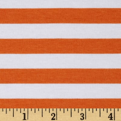 Knit Half Inch Stripe Orange