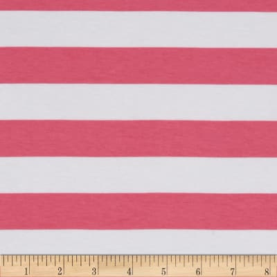 Knit 1 Inch Stripe Hot Pink