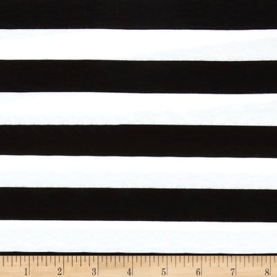 "Riley Blake Cotton Jersey Knit 1"" Stripes Black"