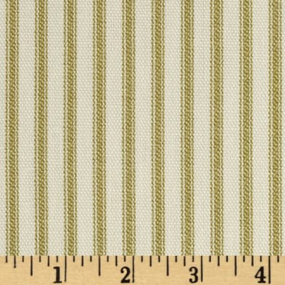 Vertical Ticking Stripe Olive