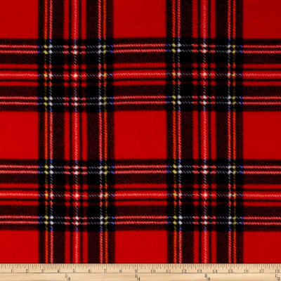 Winter Fleece Stewart Plaid Red