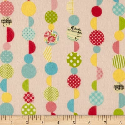 Riley Blake Sidewalks Flannel Marbles Pink