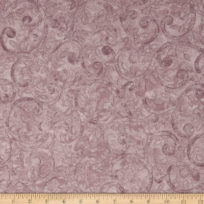 "Left Bank Wide Scroll 108"" Quilt Back Scroll  Purple"