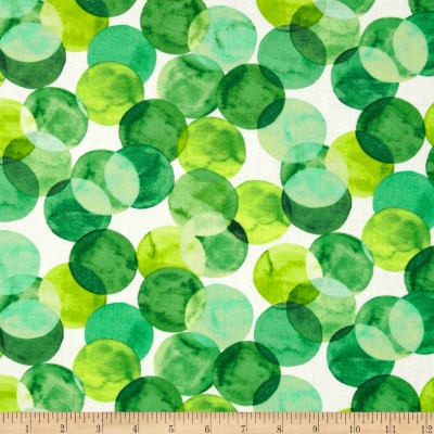 Mad For Melon Water Color Dot Green