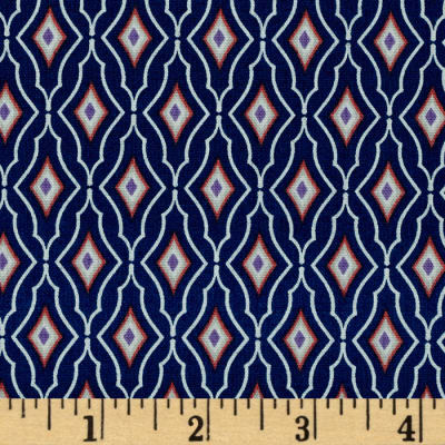 Paisley Please Preppy Harlequin Navy/Multi