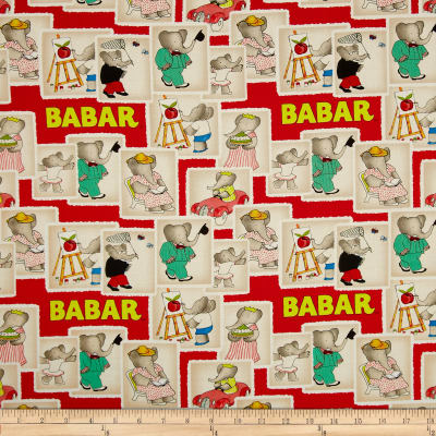 Babar Stamps Red
