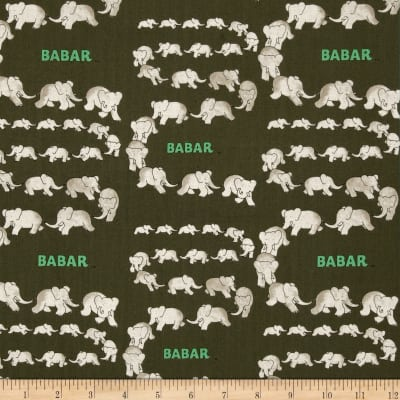 Babar Traveling Elephants Gray