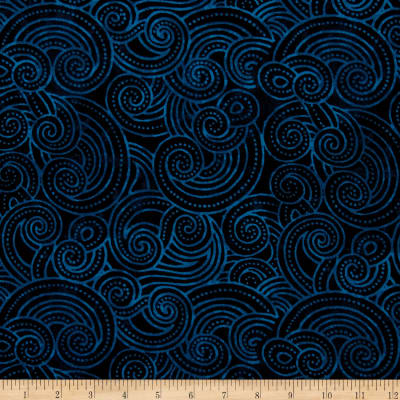 "Essential Dotty Waves 108"" Wide Quilt Back Navy"