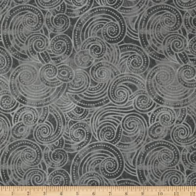 "Essential Dotty Waves 108"" Wide Quilt Back Gray"