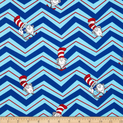 The Cat in The Hat 2 Chevron Cat in The Hat Celebration Blue
