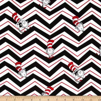 The Cat in The Hat 2 Chevron Cat in The Hat Black