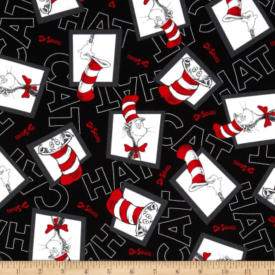 The Cat in The Hat 2 Chevron Cat in The Box Black