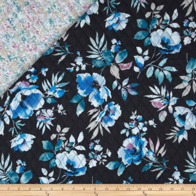 Summer Breeze Quilted Flowers Blue