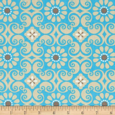 Bright Now Floral Blue/Tan